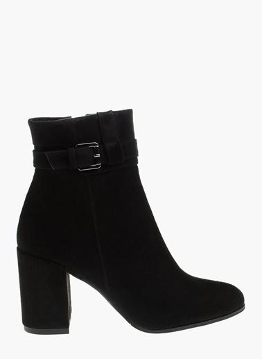 Divarese Kalın Topuklu Uzun Bot Siyah